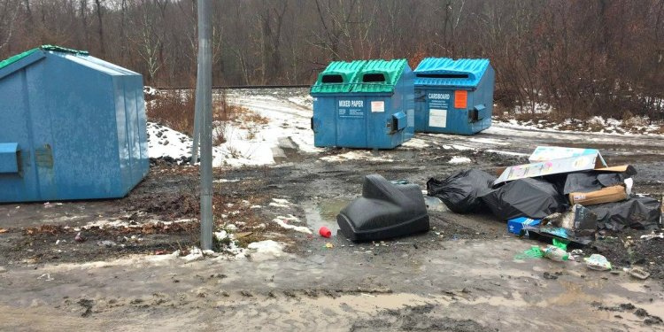 Household Trash in Wilkes-Barre Area School District Dumpsters