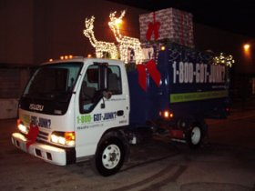 Milwaukee junk removal crew take part in the Christmas parade