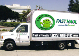 Our Junk removal truck in Alameda